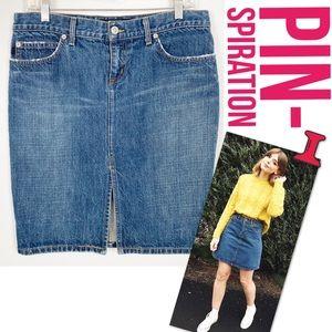 Juicy Couture Denim Jean Mini Skirt L R403
